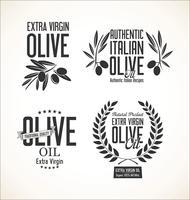 Olive retro etiketter samling