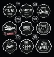 Lyx premium silver märken och etiketter