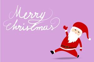 Frohe Weihnachten Gruß Hintergrund mit Santa Claus