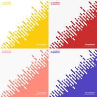 Abstrakt uppsättning färger rand linje av techno design bakgrund. illustration vektor eps10