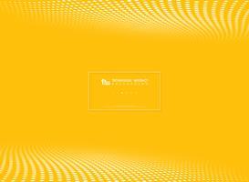 Modern gul tech cirkel prickar mönster halvtons bakgrund. illustration vektor eps10