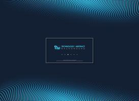 Geometrischer Hintergrund der abstrakten blauen modernen minimalen Punkte. Llustration Vektor eps10