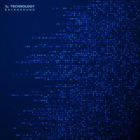 Futuristisches blaues quadratisches Muster des Dekorationsabdeckungshintergrundes. Abbildung Vektor eps10