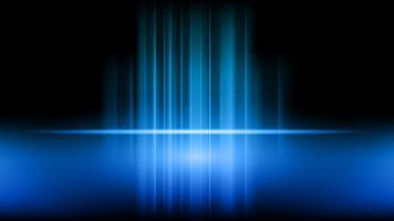 Stadium und Darstellung des Produktes auf blauem Ausstellungsraumstudiohintergrund vektor