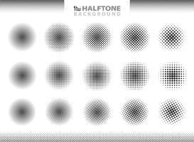 Moderna halvtons uppsättning cirklar dekoration. vektor eps10