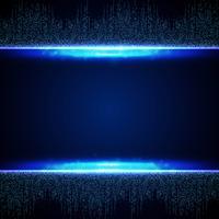 Abstraktes blaues futuristisches des quadratischen Verbindungsmusterhintergrundes. Abbildung Vektor eps10