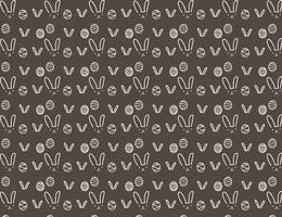 Glücklicher Ostern-Musterhintergrund, nettes Ostern-Muster für Kinder, Vektorillustration. vektor