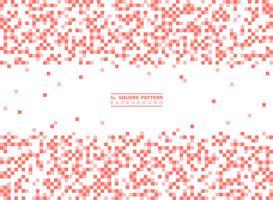 Modernes quadratisches Muster der lebenden korallenroten Farbdekoration auf weißem Hintergrund. Abbildung Vektor eps10