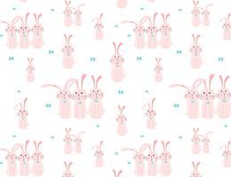 Netter Häschenmusterhintergrund, Ostern-Muster für Kinder, Vektorillustration. vektor