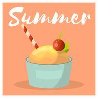 Ice Cream Scoop Med Körsbär