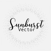 Sonnendurchbruchart lokalisiert auf weißem Hintergrund, Sprengung strahlt Vektorillustration aus. vektor