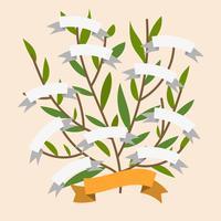 Flache einfache Stammbaum-Vektor-Schablone vektor