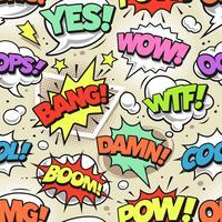 komisk popkonst sömlöst mönster