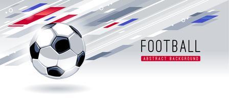 Abstrakt Modern Bakgrund Med Fotboll