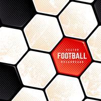Grunge fotboll boll ytan bakgrund vektor