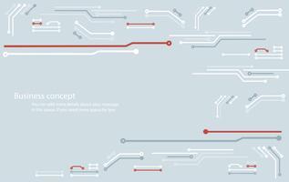 abstrakte Platine Technologie Linie Hintergrund