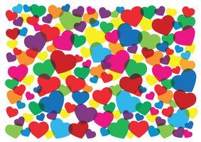 färgglada hjärtan bakgrund vektor illustration