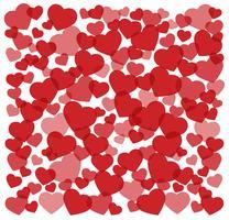 många röda hjärtan bakgrund vektor illustration