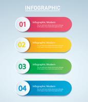 Infografik Vektor Vorlage mit 4 Optionen. Kann für Web, Diagramm, Grafik, Präsentation, Diagramm, Bericht, Schritt für Schritt Infografiken verwendet werden. Abstrakter Hintergrund