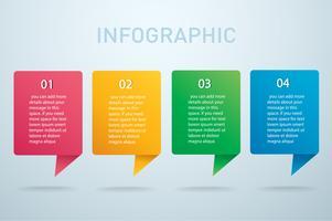 quadratische Infografik Vektor-Vorlage mit 4 Optionen. Kann für Web, Diagramm, Grafik, Präsentation, Diagramm, Bericht, Schritt für Schritt Infografiken verwendet werden. Abstrakter Hintergrund vektor