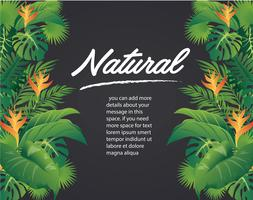 gröna blad modern design och svart bakgrund vektor illustration