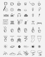 Online media teman och färgglada doodle drycker på bakgrunden. Söt klotter sömlöst mönster