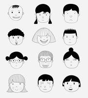 Vektorbilder von Leuten in den verschiedenen Ländern Gekritzelkunstkonzept, Illustrationsmalerei