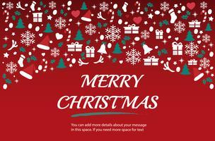 Weihnachtsgrußkarte mit Raummusterhintergrund-Vektorillustration