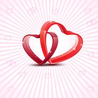 Lycklig valentins dag kärlek hälsningskort med röd hjärta på abstrakt bakgrund. Vektor