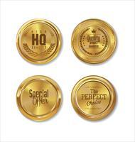 Goldener Verkauf beschriftet Retro- Weinlesedesignsammlung vektor