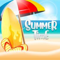 Sommerferien an der Strandhintergrundillustration