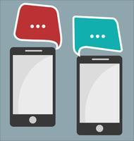 Mobiltelefon kommunikation abstrakt bakgrund vektor
