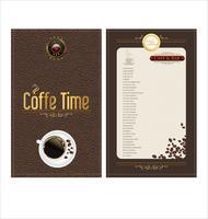 kaffe flygblad vektor