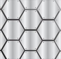 Plattenmetallhexagon und schwarzer Hintergrund vector Illustration