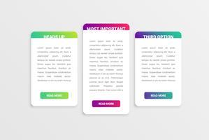 Bunte moderne weiße Kartenschablone mit buntem Design