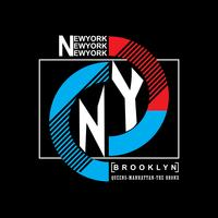 Brooklyn-Remix-Typografie, T-Shirt-Grafiken, Vektoren