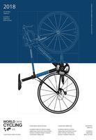 Radfahrenplakat-Design-Schablonen-Vektor-Illustration