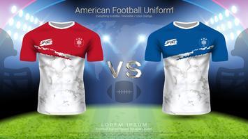 Amerikansk fotbollsspelare uniform.