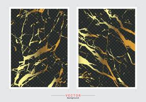 Gold Marmor Cover Hintergrund. vektor