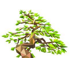 Polygon träd på vektor