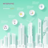 Geschäft infographic auf Gebäudekonzept. vektor