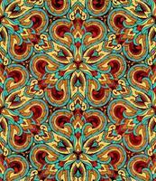 Thailändische traditionelle ethnische Kunstzusammenfassung, nahtloses Muster. vektor