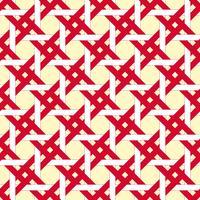 Roter und weißer Korb, quadratischer nahtloser Hintergrund. vektor
