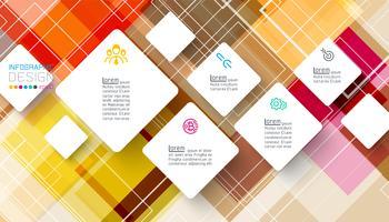 Kvadratisk infographics på abstrakt bakgrund vektor