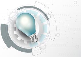Glödande glödlampa affärsplan plan koncept. vektor