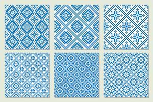 Etniska nordiska mönster uppsättning vektor illustration.