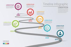 Infographic Schablone der Präsentations-Geschäftsstraßenkarte