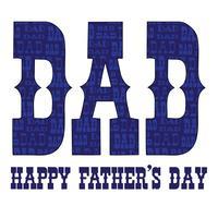 pappa typografi med blått mönster