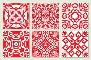 abstrakte geometrische ethnische nahtlose Texturen vektor