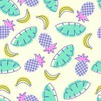 Nahtloses Pop-Art-Sommer-Frucht-Muster vektor